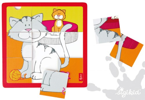 Holzpuzzle Katzen