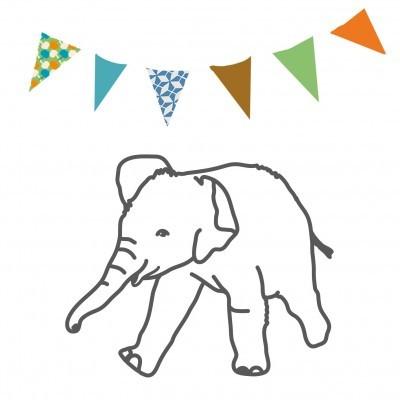 Bügelbild Elephant