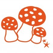 Iron-on Application Mushroom