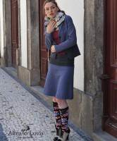 Jaquard Skirt indigo