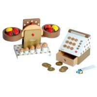 Kaufmannsladen-Set mit Kasse und Waage