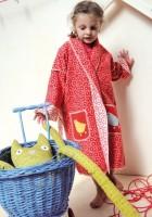 Kinder Kimono Bademantel aus Baumwollfleece