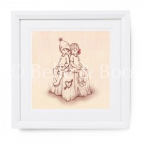 Kunstdruck Belle & Boo Meet Me At Mikes Sepia