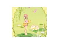 Kunstdruck Belle & Boo Sanfte kleine Meerjungfrau