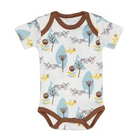Kurzarm-Body Strampler Short Sleeve Fox Boy von Fresk