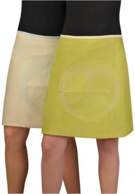 Leinenrock mit  Stickerei auf der Vorderseite