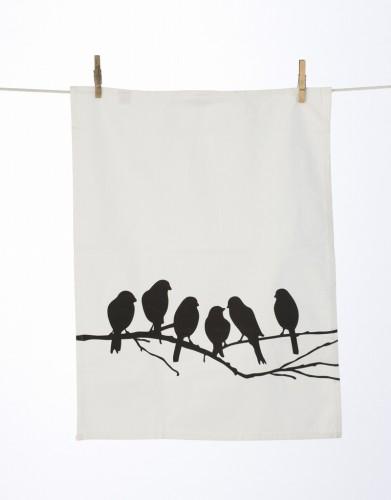 Lovebirds Tea Towel