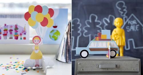 Luftballon Mädchen card A5