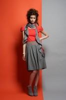 MEROU Organic cotton chambray skirt