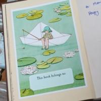 Mein Papier Boot Buchschild