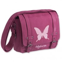 Messenger Bag Butterfly berry