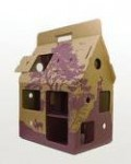 Mobiles Puppenhaus Recycling! in der Farbe purple
