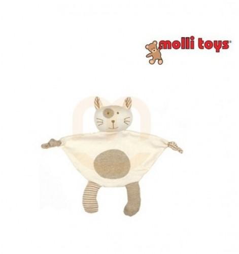 Molli Baby Organic Cotton Doo Doo Cat  Blanket  26cm