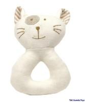 Molli Baby Rassel, Katze, organische Baumwolle, 14 cm