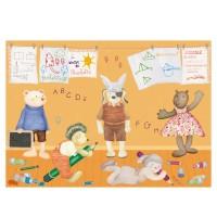 Moulin Roty La Grande Famille 35 Teile Puzzle - Schule