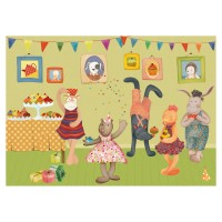 Moulin Roty La Grande Famille 35pc Jigsaw Puzzle - Birthday Party