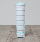 Swaddle Aqua Blue Messy Stripe