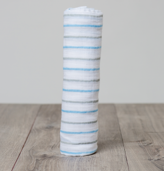 Swaddle Blue Messy Stripe