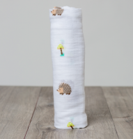 Muslin Swaddle Mulltuch - Happy Hedgehog