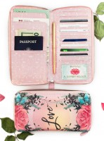 Natural Rose Passport Holder von Papaya