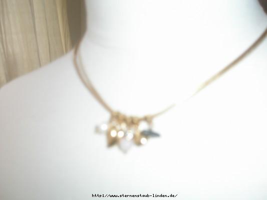 Necklace Herz und Suesswasserperlen