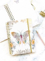 Paisley Butterfly Mini Decorative Notebook Spiral Notebook by Papaya!
