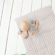 Playpen blanket Decke 100x150cm LEAVES in mintgrün von Fresk