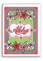Postkarte Pintuck Aloha Card