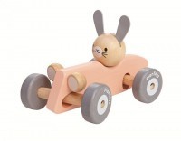 Rabbit Racing Car Rennwagen mit Hase von Plantoys