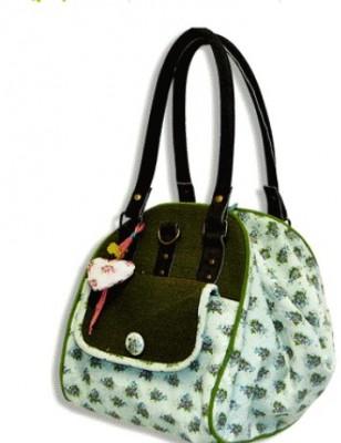 Rosaletta Tasche mit Segeltuchbezug