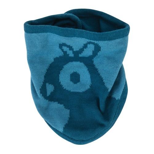 Sebra Knitted Bib Beaver Blue