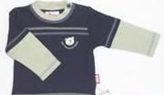 Sigikid Langarmshirt Active Bears blau mit beigen Aermeln
