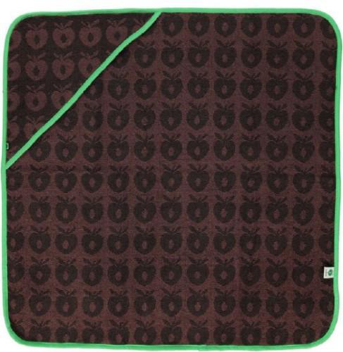 smafolk baby towel with apples baby handtuch mit kapuze braun. Black Bedroom Furniture Sets. Home Design Ideas