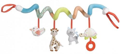 Spielzeugspirale und Kinderwagenkette