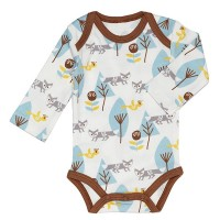 Strampelanzug Langarm-Body Strampler Long Sleeve Fox Boy von Fresk
