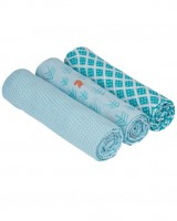 Swaddle & Burp Blanket L Little Tree - Fox