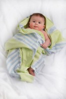 Turkish Towel Badetuch - Lime Green & Blue