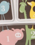 Unterteilter Melaminteller Numbers von Sugar Booger