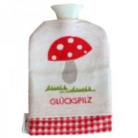 Waermflasche mit Glueckspilz