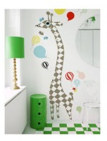 Wallsticker Giraffe meassuring hight ruler