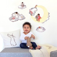 Wand Sticker von Belle & Boo mit Motiv Cloud Fairies wall sticker