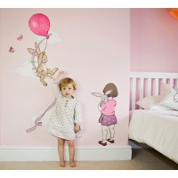 Wand Sticker von Belle & Boo mit Motiv Pink Balloon Height Chart