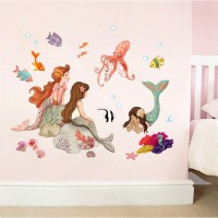 Wand Sticker von  Belle & Boo mit dem Motiv Mermaid Play Wall Sticker