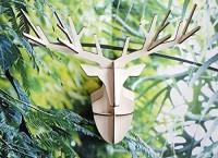 Wanddeko Hirsch aus Holz