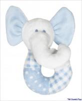 Weiche Rassel blau Elephant von Pumpkin