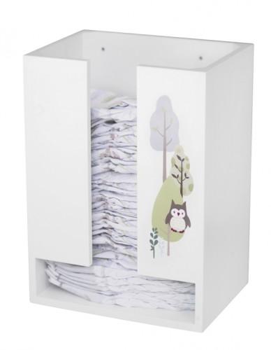 windelbehaelter und windelbox mit eule von pumpkin. Black Bedroom Furniture Sets. Home Design Ideas