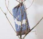 Wohndecke Luca  Hirsch mit Beutel navy blau 140 x 200 cm