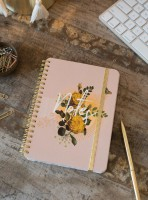 Yellow Roses Mini Decorative Notebook Spiral Notebook by Papaya!