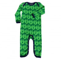 body suit with apples green