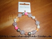braclet elastic silver rosa & orange